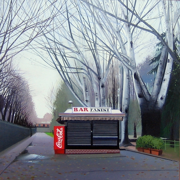 Bar Panini I, oil on panel 24inX24in 2004 N/A