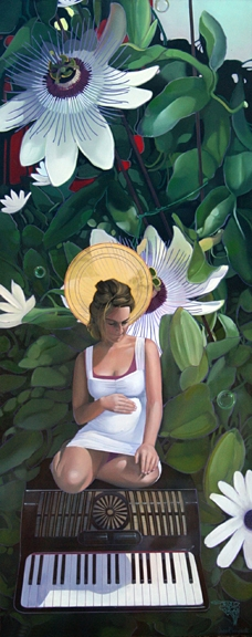 Birth of Spring, oil on panel 60inX24in 2009/2012