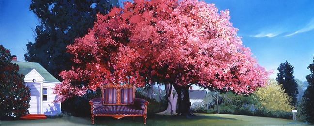 Cherry Tree, oil on canvas 24inX50in 2000 N/A