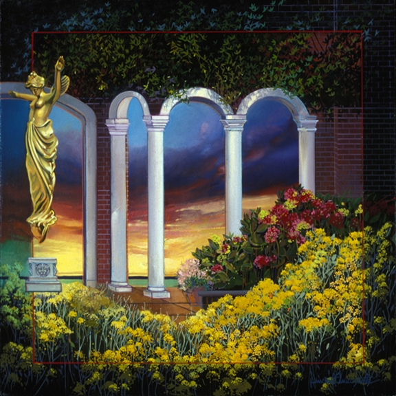 Classical Influence, oil on canvas 36inX36in 2000