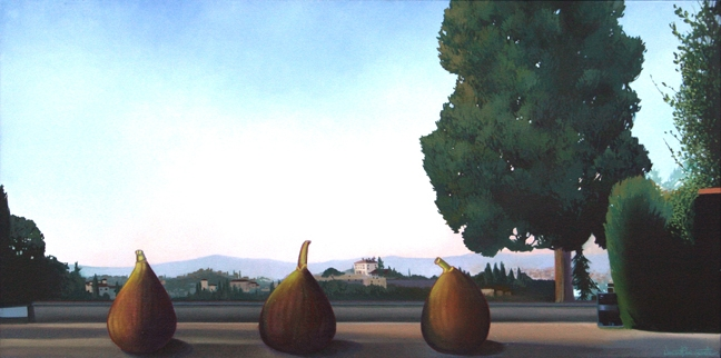Firenze, Panorama da San Miniato, oil on canvas 24inX48in N/A