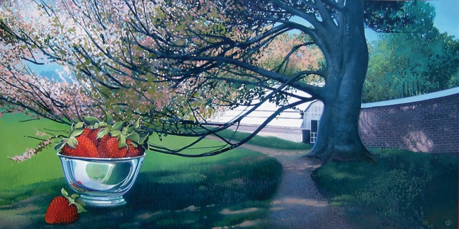 New England Tree, oil on canvas 12inX24in 2005 N/A