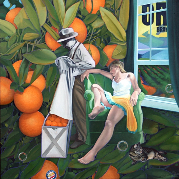 Oranges, oil on canvas 36inX36in 2011 N/A