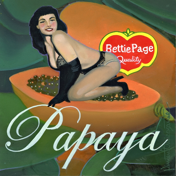 Papaya, oil on panel 8inX8in 2013 N/A