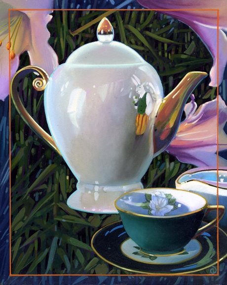 Part One, Tea Story oil on panel 10inX8in 2006 N/A