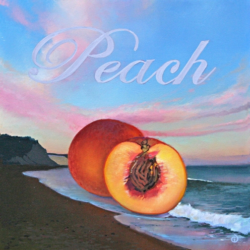 Peach, oil on panel 8InX8in  2007 N/A