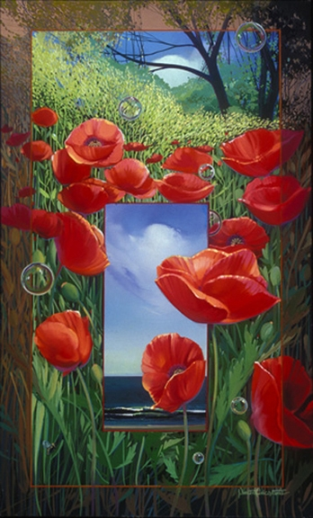 Poppies, oil on canvas 28inX17in 2004 N/A