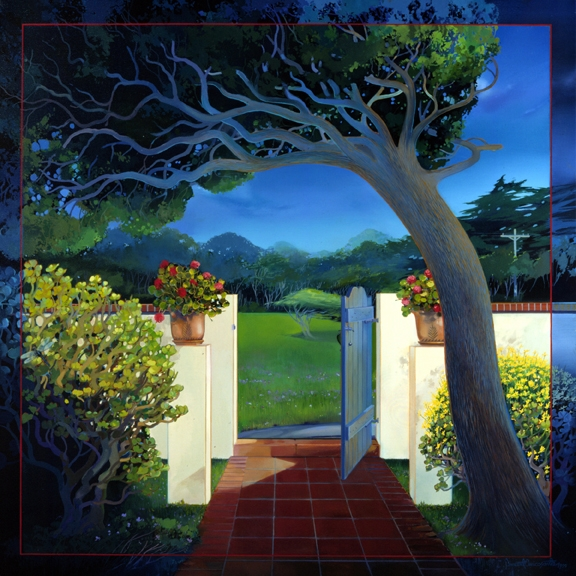 Private Paradise, oil on canvas  44inX44in 1999 N/A