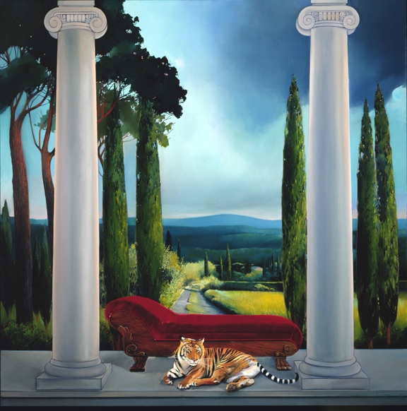 Tiger Paws, oil on canvas 52inX52in 2000 N/A