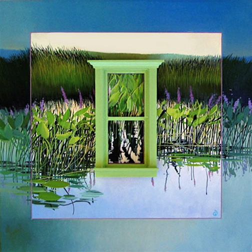View of the Marsh, oil on panel 2005 N/A