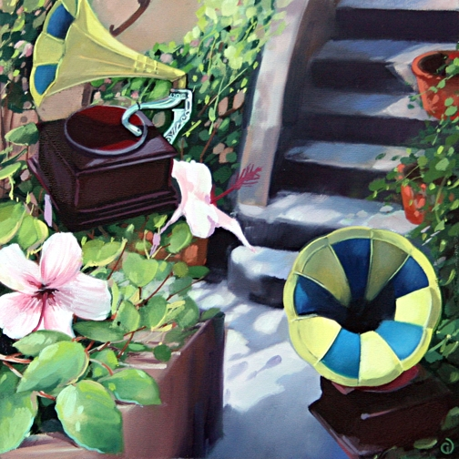 Victrola, oil on panel 12inX12in 2009 N/A