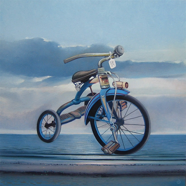 Vintage Blue, oil on panel 12inX12in 2007 N/A