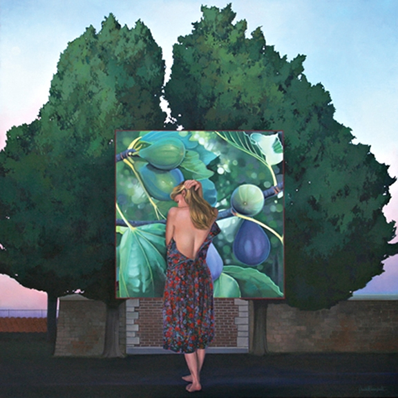 the Sacred Fig, oil on canvas 48inX48in  2008 N/A