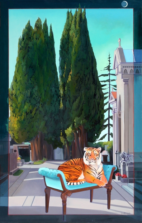 Tigre di Firenze, oil on canvas 78inX50in N/A
