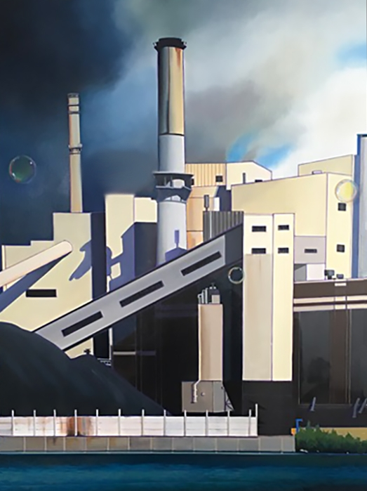 Industry I, oil on canvas 40inX30in