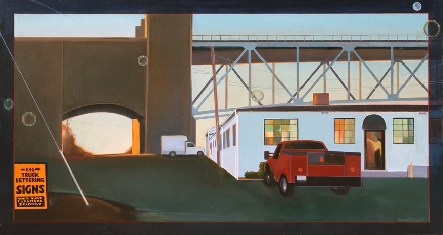 Under the Sagamore, oil on canvas 32inX60in