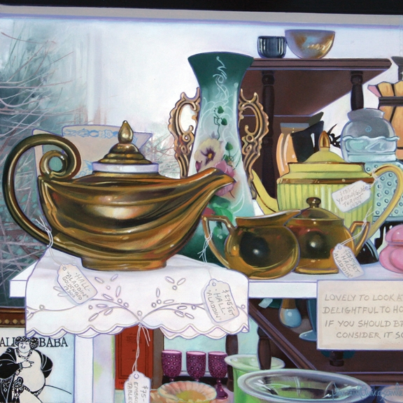 Aladdin I, oil on panel 12inX12in 2006 N/A