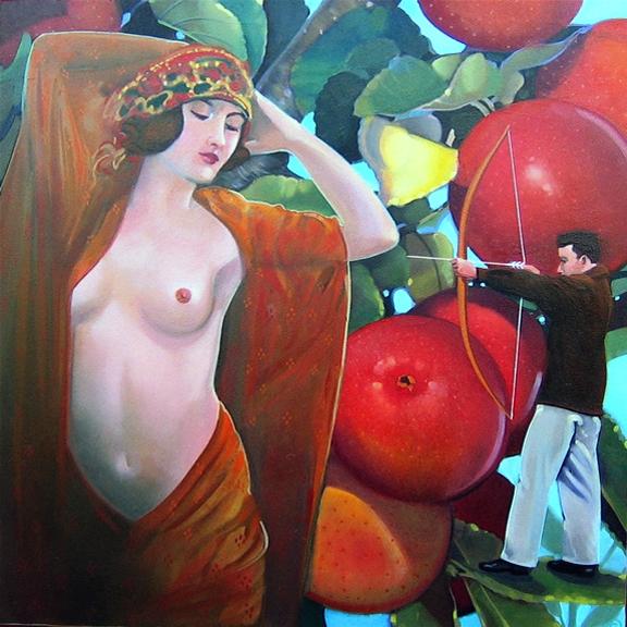 Apples, oil on panel 12inX12in 2007 N/A