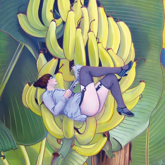 Bannanas, oil on panel 12inX12in 2007 N/A