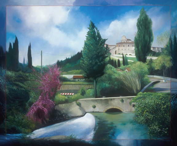 Certosa di Firenze, oil on canvas 54inX66in 2004