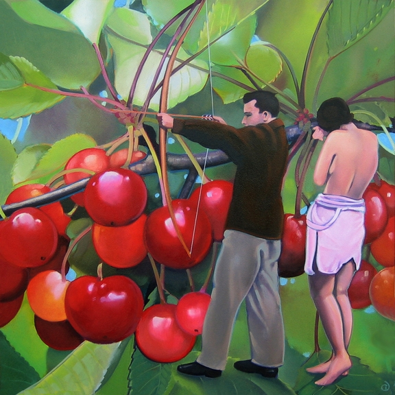 Cherries, oil on panel 12inX12in 2007 N/A