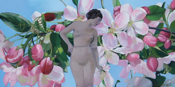 Cherry Blossom, oil on panel 12inX24in 2009 N/A