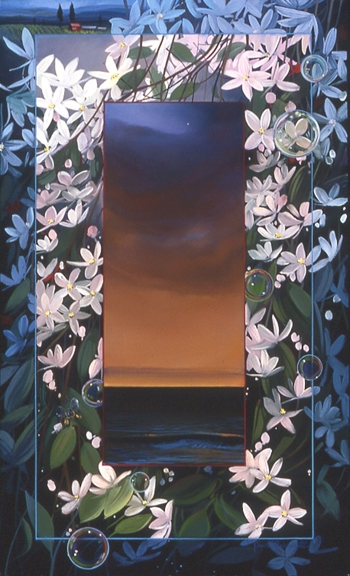 Clematis, oil on canvas 28inX17in 2004 N/A