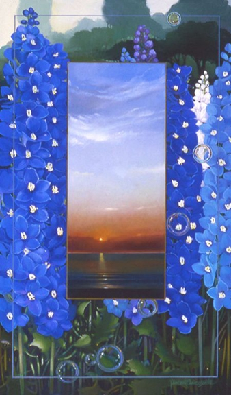 Delphinium, oil on canvas 28inX17in 2004 N/A