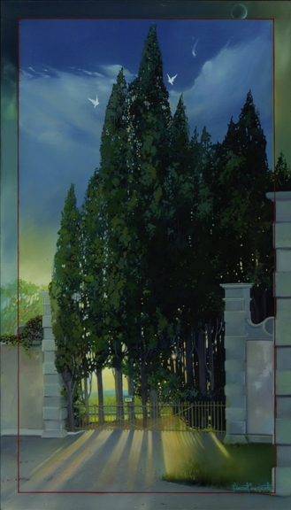 Entry is Forbidden, oil on canvas 42inX24in 1999