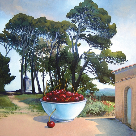 French Cherries, oil on panel 12inX12in 2009 N/A
