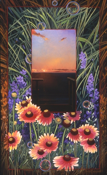 Gaillardia, oil on canvas 28inX17in 2004 N/A