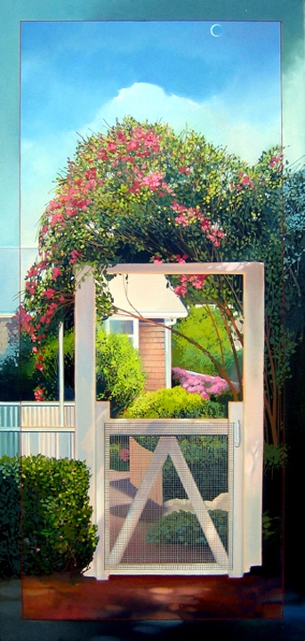 Gate, oil on canvas 60inX32in 2005 N/A