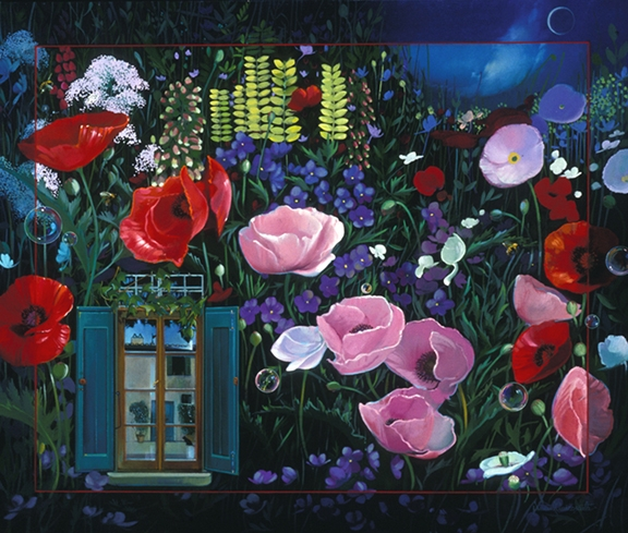 Ghirlandaio's Garden, oil on canvas 30inX40in 2001 N/A