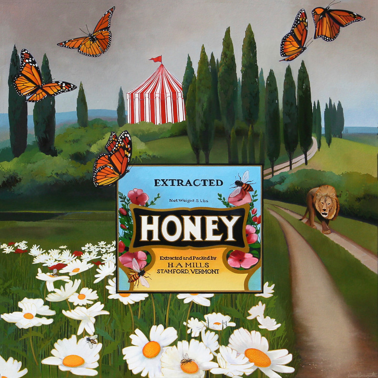 Honey, oil on canvas 48inX48in 2017
