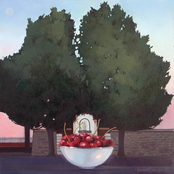 Italian Cherries, oil on panel 12inX12in 2008 N/A