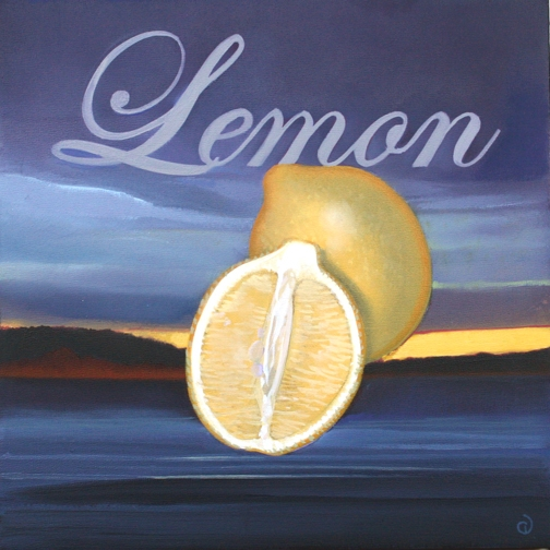 Lemon, oil on panel 8InX8in  2007 N/A
