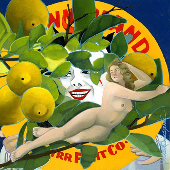 Lemons, oil on panel 8inX8in 2013 N/A