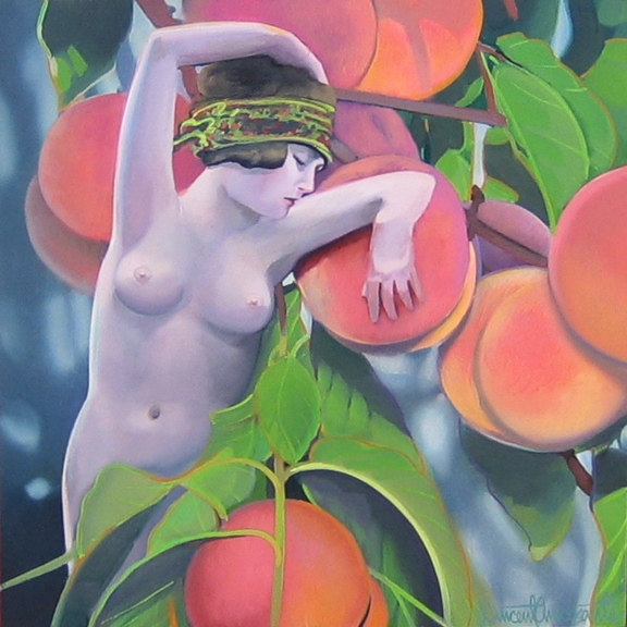 Peaches, oil on panel 12inX12in 2007 N/A