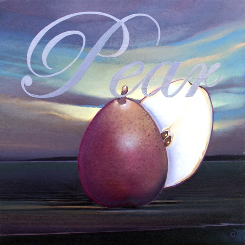 Pear, oil on panel 8InX8in  2007 N/A