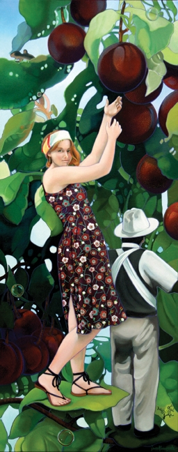 Plum Orchard Perfect, oil on canvas 60inX24in 2010 N/A