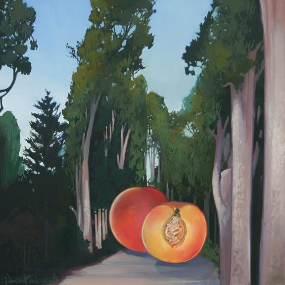 Sienna Peach, oil on panel 12inX12in 2008 N/A