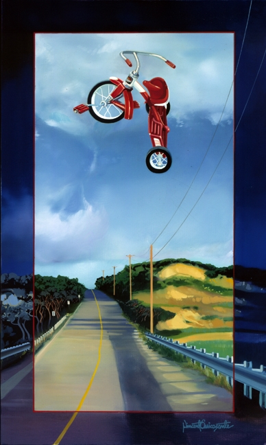 Susan's Tricycle, oil on canvas 40inX30in 1997 N/A