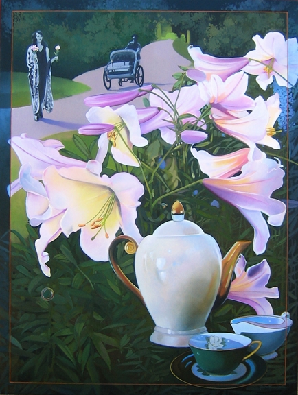 Tea Story, oil on canvas 60inX54in 2006 N/A