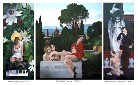 Transit of Love, triptych 2009