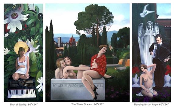 Transit of Love, triptych 2009