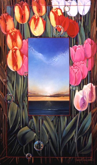 Tulips, oil on canvas 28inX17in 2004 N/A