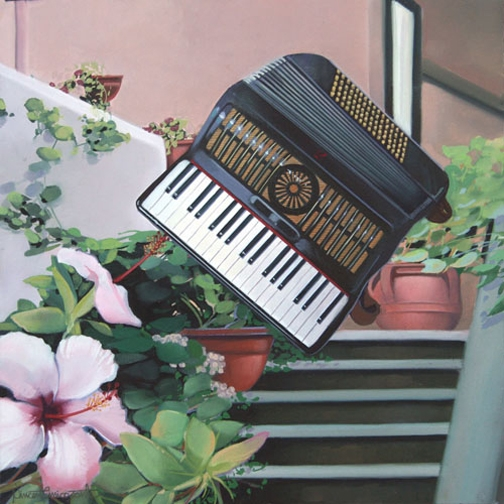 Accordion II, oil on panel 12inX12in 2009 N/A
