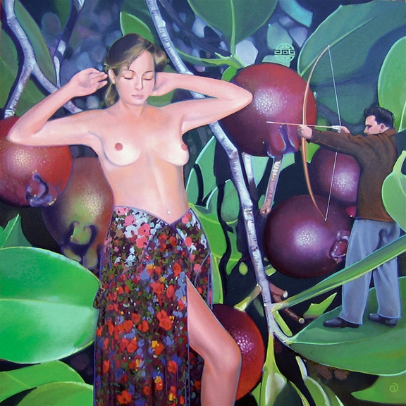 Guava, oil on panel 12inX12in 2007 N/A